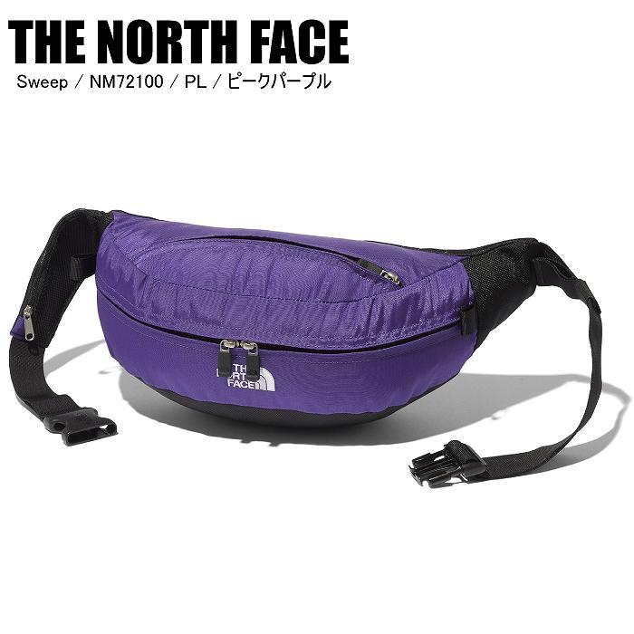 商品レビュー記入でクーポンGET THE NORTH FACE ノースフェイス Sweep スウィープ PL ピークパープル ブランド品 5%OFF NM72100 ST ウェストポーチ ボディバッグ