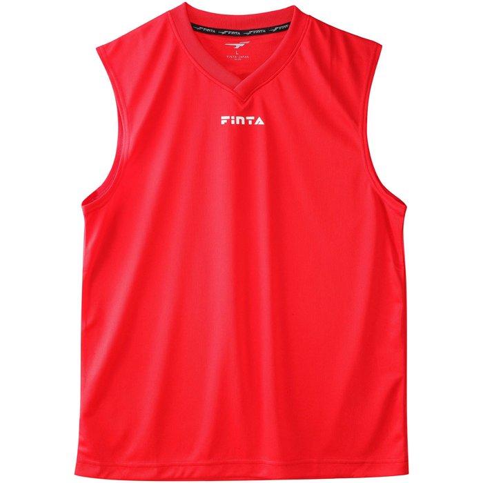 商品レビュー記入でクーポンGET FINTA フィンタ 即納 授与 ノースリーブメッシュインナーシャツ FTW7033 サッカー レッド ST サッカーウェア