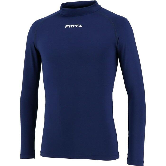 商品レビュー記入でクーポンGET 奉呈 FINTA フィンタ Jr.ハイネックインナーシャツ セール特価 ジュニア FTW7028 サッカーウェア ST サッカー ネイビー