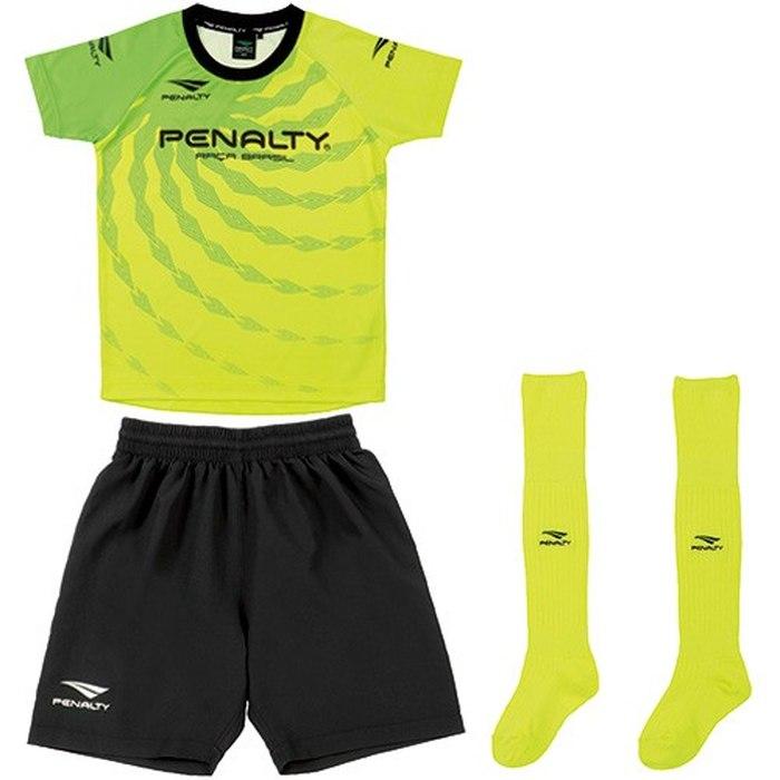 商品レビュー記入でクーポンGET PENALTY ペナルティー ジュニア プラクティスセット 3点セット サッカーウェア サッカー 特別セール品 PU1200J 大決算セール 65 ST