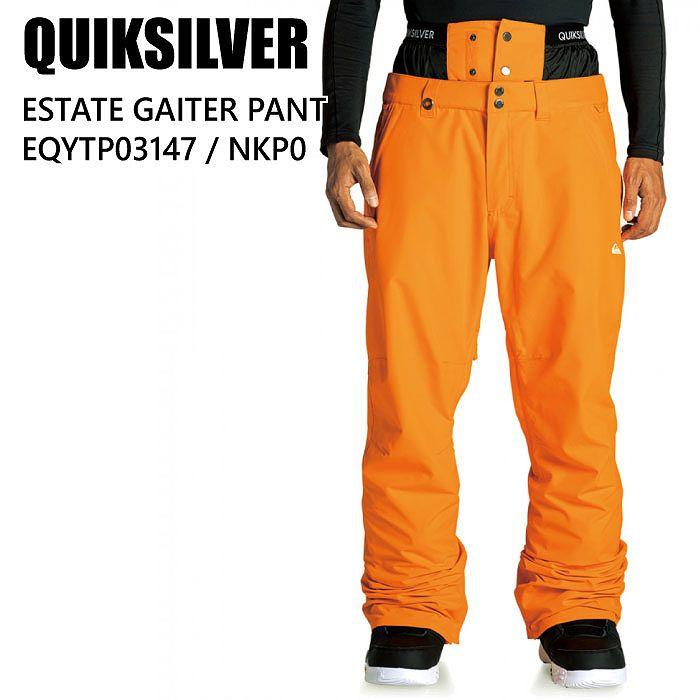 商品レビュー記入でクーポンGET QUIKSILVER クイックシルバー ウェア EQYTP03147 祝日 ESTATE 正規激安 GAITER メンズ スノーボード PT 20-21 NKP0 パンツ ST