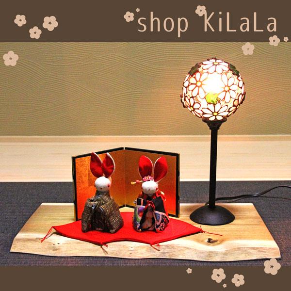 【人形付きオリジナルぼーるランプ飾り】うさぎ雛
