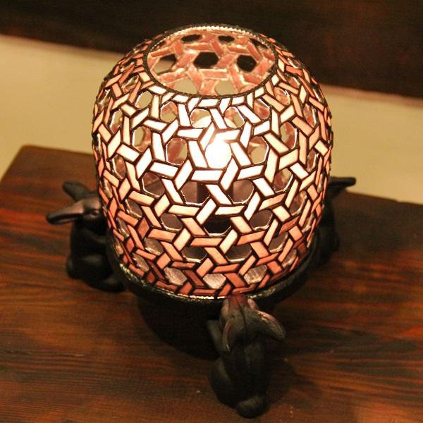 【ステンドグラス】月うさぎ(あずき)【ランプ】