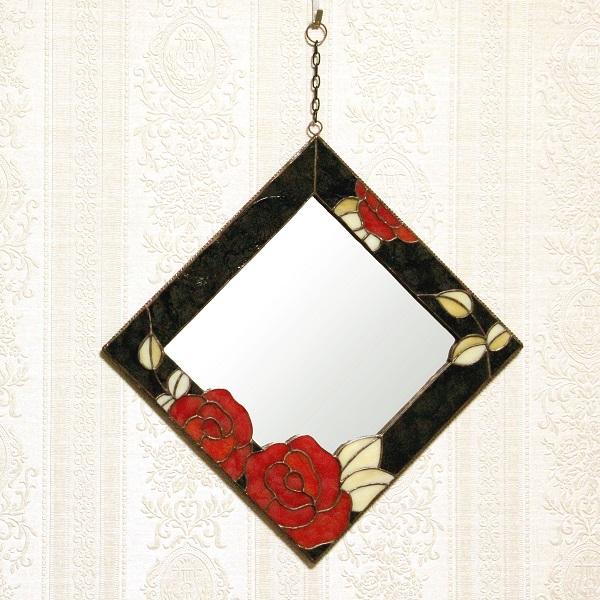 薔薇のフェイスミラー(赤)