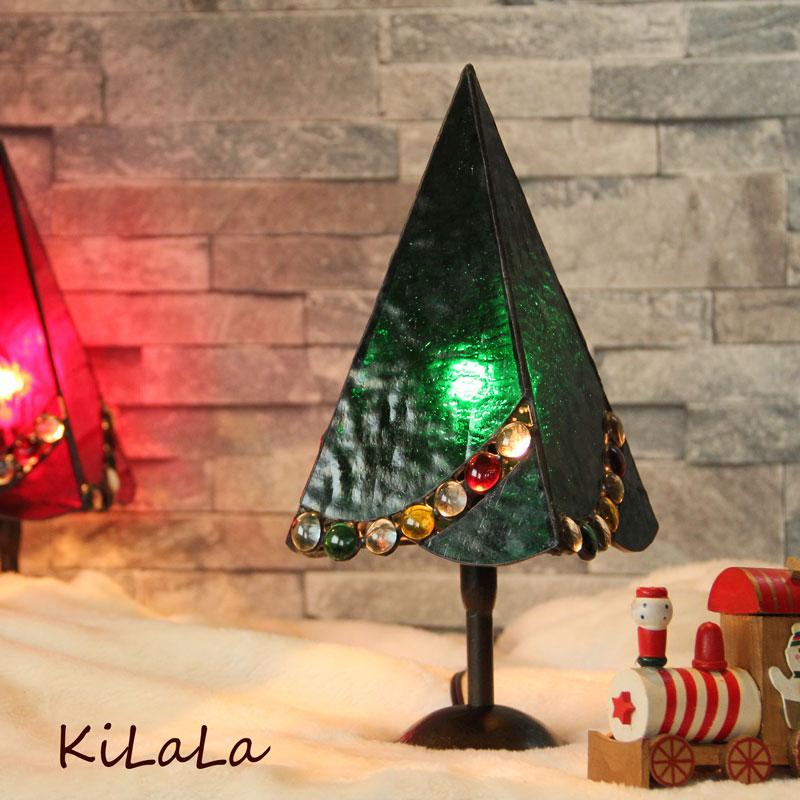 クリスマスツリー(緑)トール【ステンドグラス】