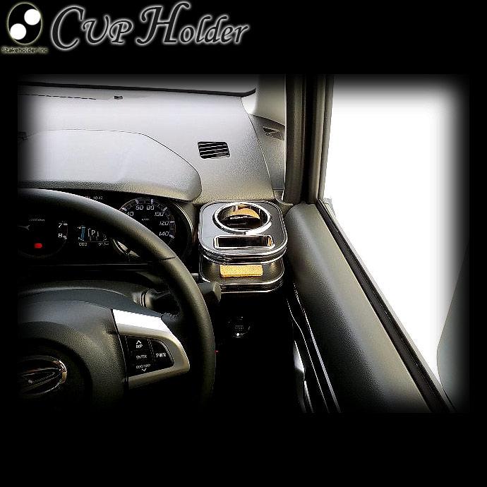 ムーブ(LA150F/160F)ウッド(木製) 純国産 カップホルダー(ダイハツ)(純正ホルダー用)運転席側