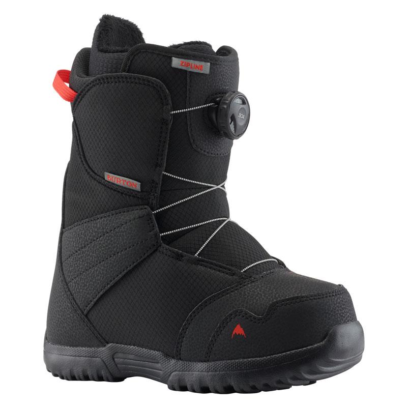 19-20モデル【BURTON】バートン【Kids' Zipline Boa Boots】Black【キッズ】ブーツ【ボア システム】SNOWBOARD【スノーボード】正規品【保証書付】子供【BOOTS】Speedzone【送料無料】