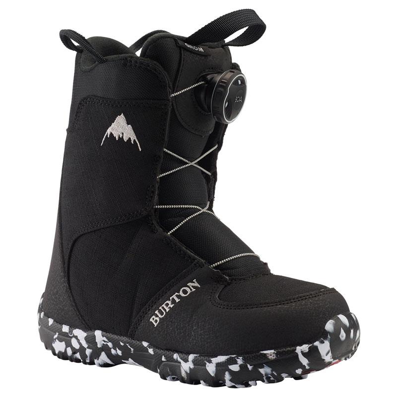 19-20モデル【BURTON】バートン【Kids' Grom Boa Boots】Black【キッズ】ブーツ【ボア システム】SNOWBOARD【スノーボード】正規品【保証書付】子供【BOOTS】Speedzone【送料無料】