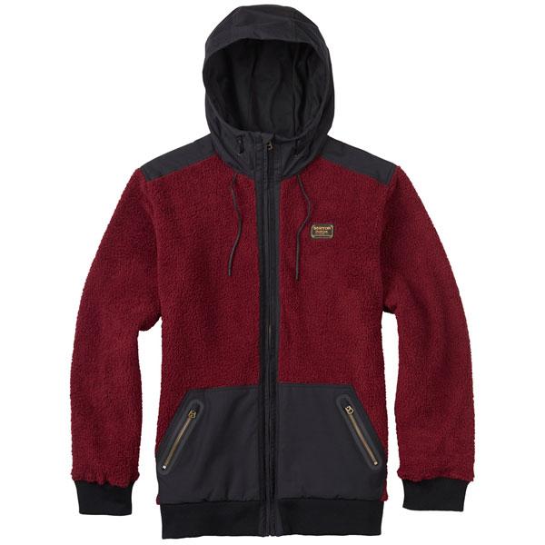 【20%OFF】16-17モデル【BURTON】バートン【Tribute Full-Zip Fleece】Wino【SNOWBOARD】スノーボード【正規品】フリース【ZIPパーカ】パーカー【インナー】Mens【メンズ】送料無料