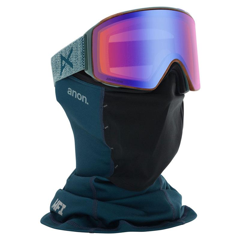 19-20モデル【anon.】アノン【Asian Fit M4 Cylindrical Goggle + Spare Lens + MFI Face Mask アジアンフィット】Frame: Lay Back, Lens: SONAR Blue【ゴーグル】専用フェイスマスク付【スペアレンズ付】SNOWBOARD【スノーボード】正規品【BURTON】バートン【送料無料】