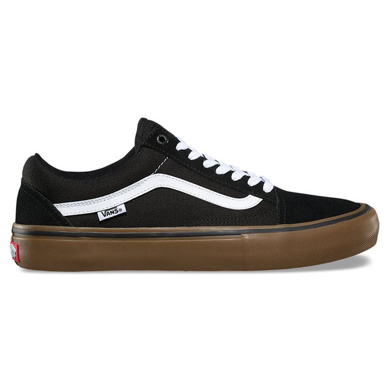 【VANS】バンズ【Old Skool Pro】Black/White/Medium Gum【スケート】スケシュー【靴】キッズ【KIDS】レディース【メンズ】オールドスクール【プロモデル】Mens【送料無料】