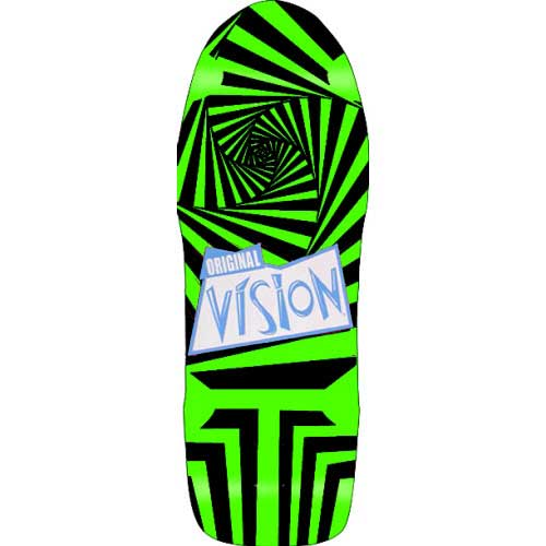 【VISION SKATEBOARDS】ビジョン【Vision Old School Gator Re-Issue Deck】10x30 GRN/BLK【スケート】レア オールド