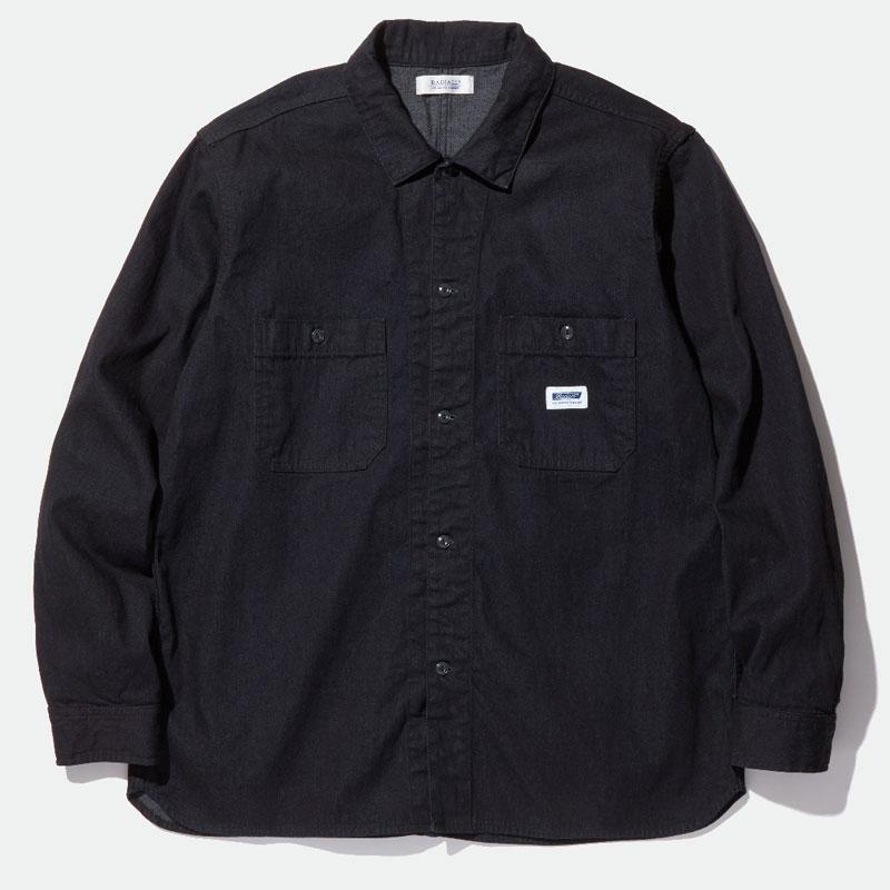 【RADIALL】ラディアル【MONK REGULAR COLLARED SHIRT L/S】Black【長袖シャツ】ワークシャツ【送料無料】