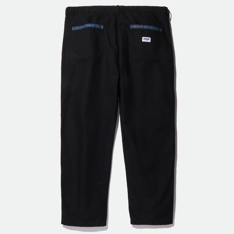 【RADIALL】ラディアル【SUBURBAN - STRAIGHT FIT EASY PANTS】Black【イージーパンツ】パンツ【送料無料】