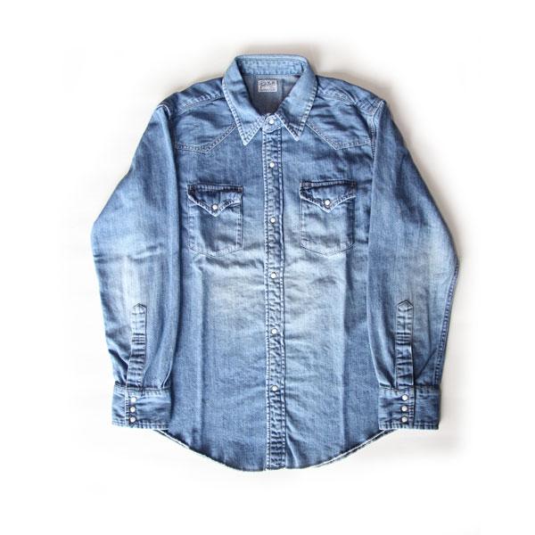 【RADIALL】ラディアル【T.N.WESTERN SHIRTS】Indigo XLsize【長袖シャツ】デニムシャツ【送料無料】TUFF NUFF【タフナフ】ウエスタンシャツ