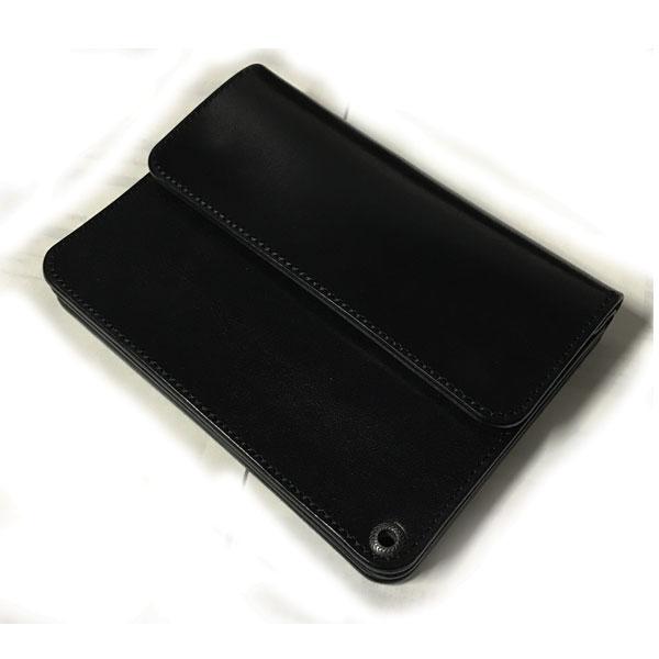 【RADIALL】ラディアル【ANCHOR SHORT WALLET】Black【財布】ウォレット【折りたたみ】レザー【牛革】送料無料