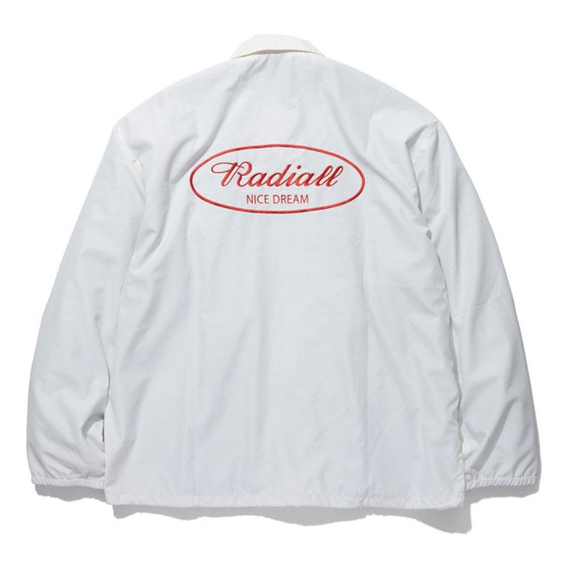 【RADIALL】ラディアル【OVAL WINDBREAKER JACKET】White【コーチジャケット】ウインドブレーカー【ナイロンジャケット】ジャケット【送料無料】