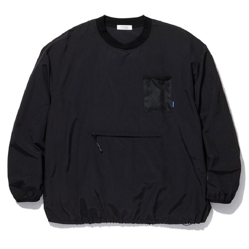 【RADIALL】ラディアル【YOSEMITE CREW NECK T-SHIRT L/S】Black L/XLsize【プルオーバーシャツ】ウインドブレーカー【ナイロン】吸水速乾と撥水性【送料無料】