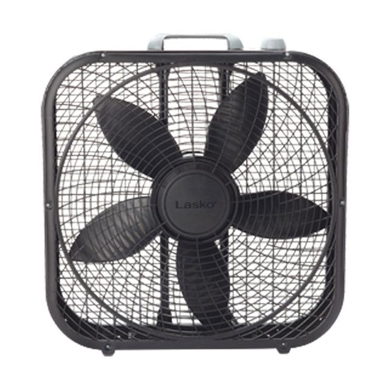 【LASKO FAN】 ラスコ【3SPEED 20inch(52x52x10.5CM) BOX FAN】Black【扇風機】サーキュレーター【ロゴ長方形】アメリカン雑貨【送料無料】