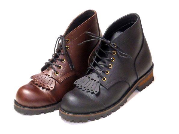【KUSTOMSTYLE】カスタムスタイル【IRON-R 6H BOOTS】BLACK BROWN【ワークブーツ】靴【19000】