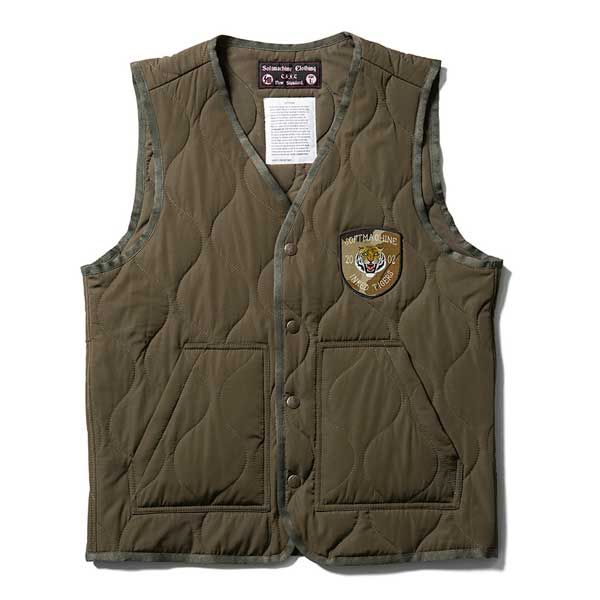 【Softmachine】ソフトマシーン【IN・N・OUT VEST】OLIVE【ベスト】ソフトマシン【MILITARY VEST】ミリタリーベスト【送料無料】20000