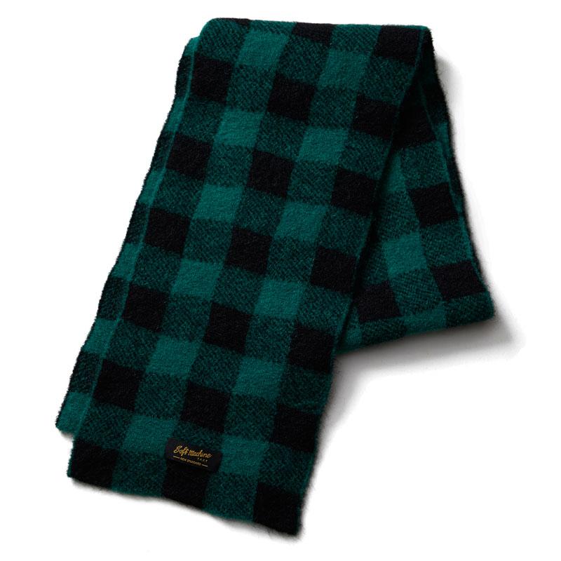 【Softmachine】ソフトマシーン【PLAID MUFFLER】Green【マフラー】ソフトマシン【送料無料】16500