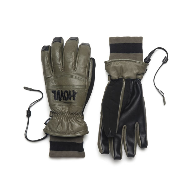 30%OFF【Howl】ハウル【Vintage Glove】Surplus Green【SNOWBOARD】スノーボード【グローブ】レザー【正規品】送料無料