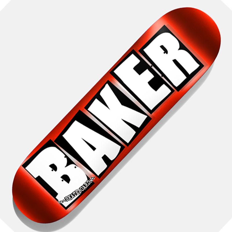 【BAKER】ベイカー【Brand Logo Red Foil】8.5inch【SKATEBOARD】スケボー【デッキ】板【スケート】送料無料