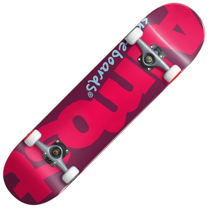 【Almost】オルモスト【Color Logo Red Complete DECK】7.375inch【SKATEBOARD】スケボー【スケート】コンプリート【完成品】子供【キッズ】KIDS【送料無料】