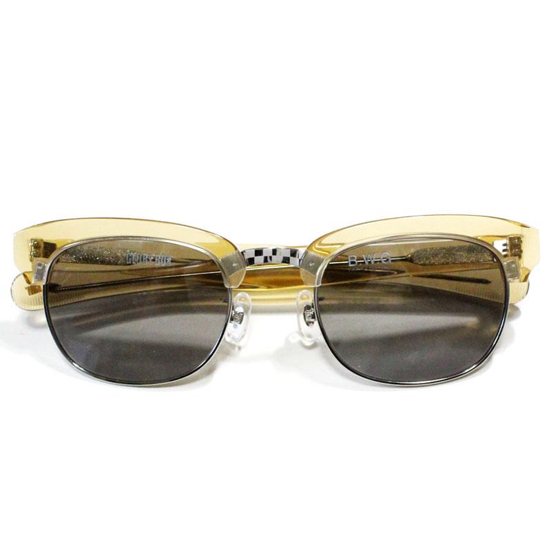 【B.W.G】ブルコワークガーメント【GLORY BOX】C.Gold(Brown)/Silver Mirror Smoke【サングラス】眼鏡【ミラーレンズ】Choopper【チョッパー】バイカー【BLUCO】ブルコ【BWG】BLUCO WORK GARMENT【UNCROWD】アンクラウド【送料無料】
