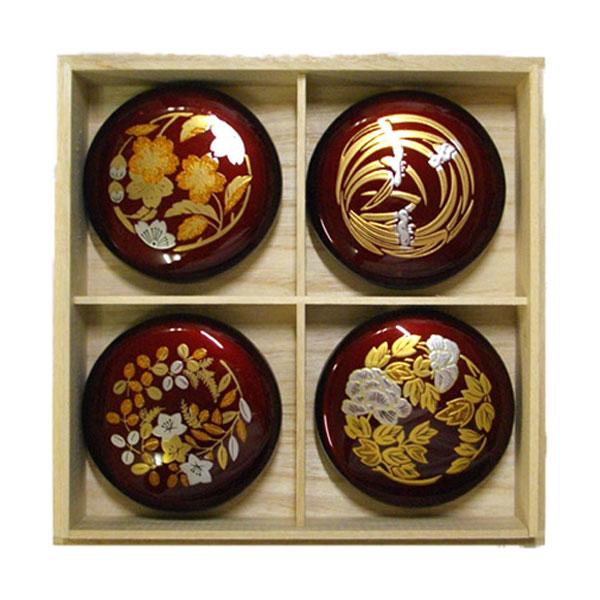 サンビー 四季朱肉(桐箱入)4個セット