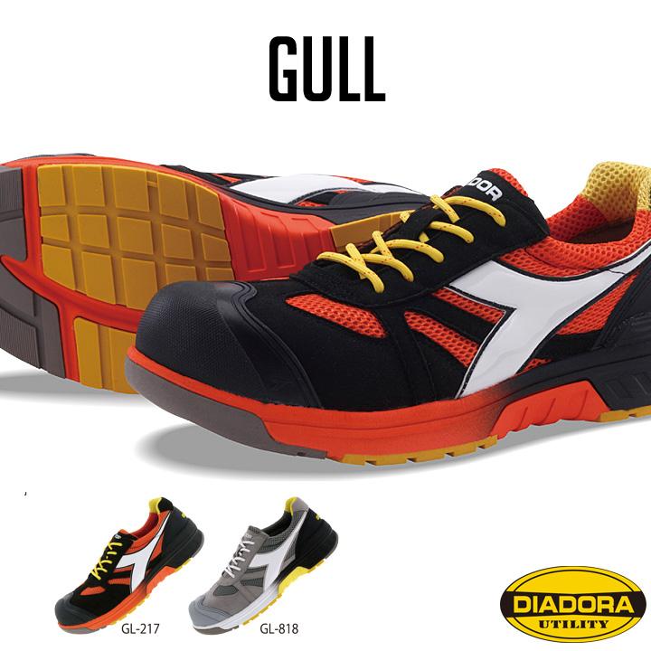 安全靴 送料無料!【一部地域除く】DIADORA ディアドラ GULL ガル メッシュ スニーカー JSAA規格A種 樹脂先芯