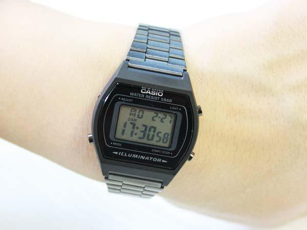 """卡西欧""""标准""""B640WB 1AJF 黑色"""
