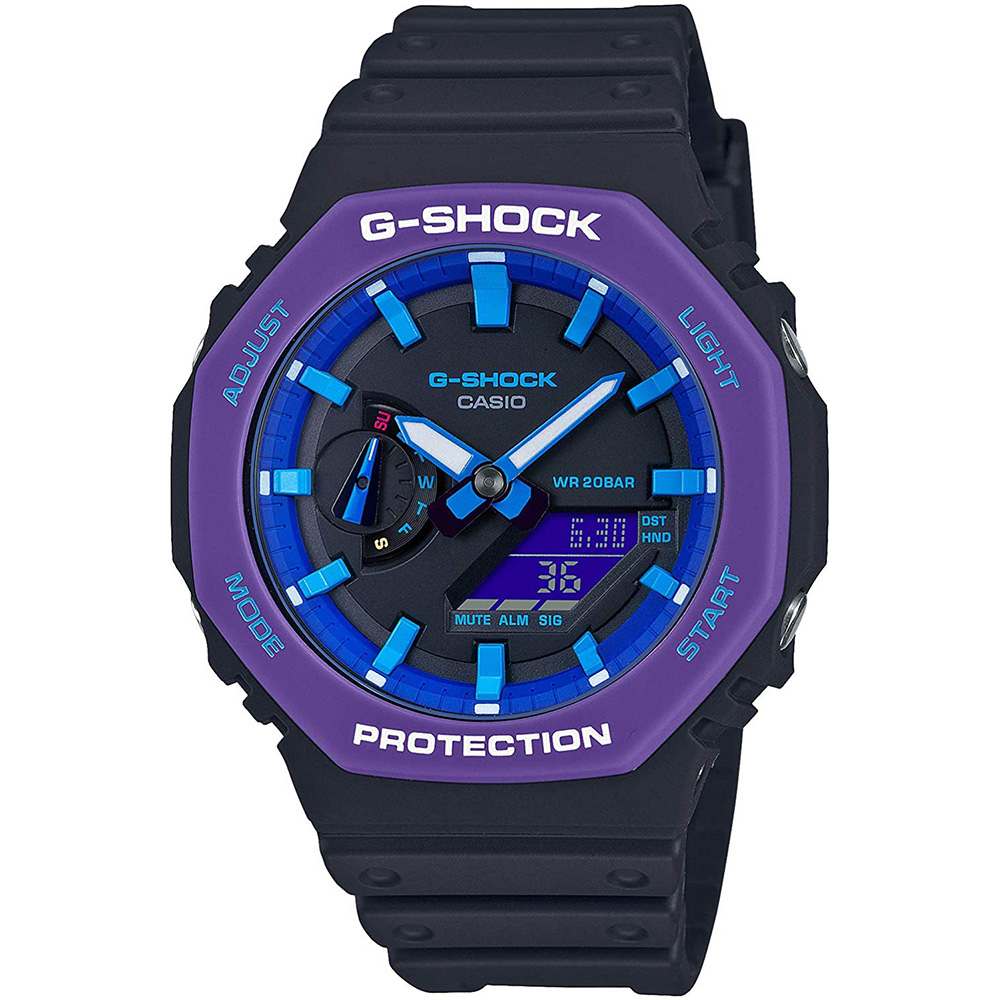 "CASIO ""G-SHOCK"" GA-2100THS-1AJR Throwback 1990s[カシオ Gショック カーボンコア 替えベルト付 ]【父の日】 【ギフト】 【贈り物】 簡易ラッピング無料"