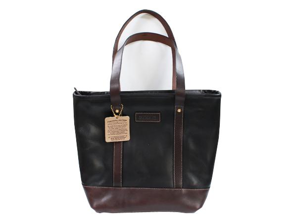 Coronado Leather Travel Tote Bag Black Horween Company Chrome Excel