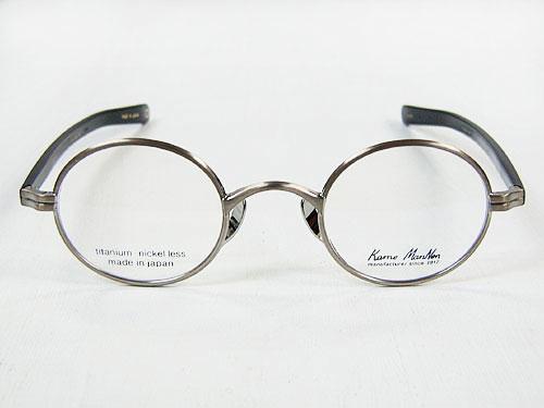 Kame ManNen KMN-33 F.titanium ATS 41mm古董银子[kamemannenobaru型钛架子眼镜]