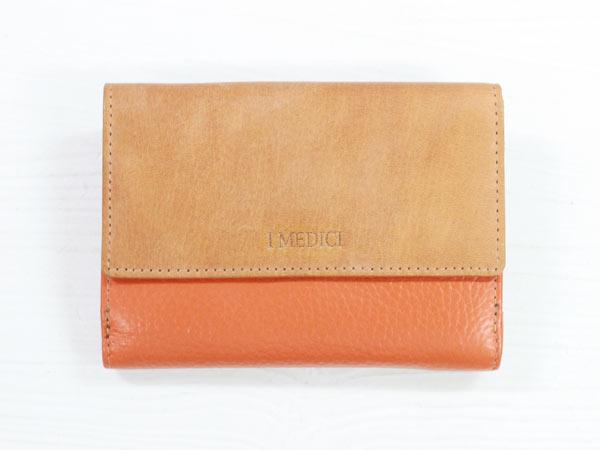 I MEDICI Folio wallet MED 02オレンジ[イ・メディチ 二つ折財布] P12Sep14