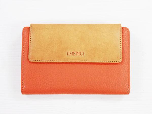I MEDICI Trifold wallet MED 03オレンジ[イ・メディチ 三つ折財布] P12Sep14