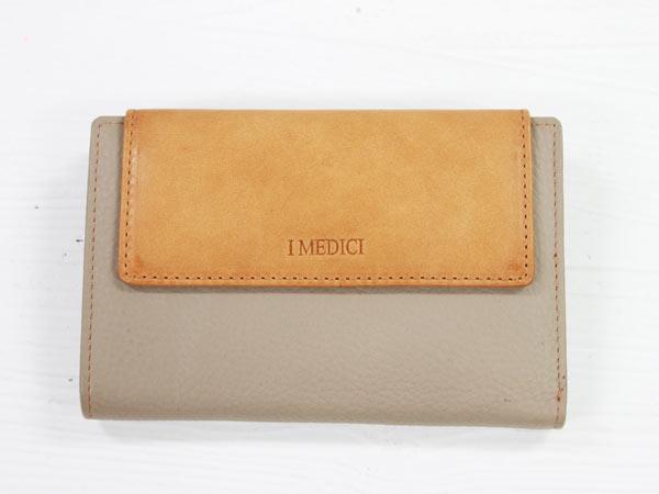 I MEDICI Trifold wallet MED 03グレーベージュ[イ・メディチ 三つ折財布] P12Sep14