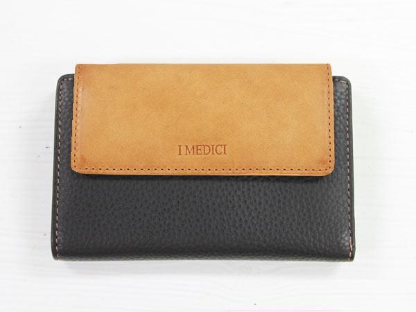 I MEDICI Trifold wallet MED 03ブラック[イ・メディチ 三つ折財布] P12Sep14
