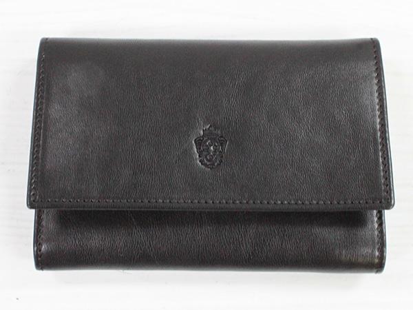 I MEDICI 231-Unisex wallet ブラック [イ・メディチ イタリアンレザー 3つ折り財布]