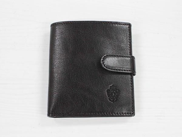 I MEDICI 322-Small size wallet ブラック [イ・メディチ イタリアンレザー 2つ折り小財布]