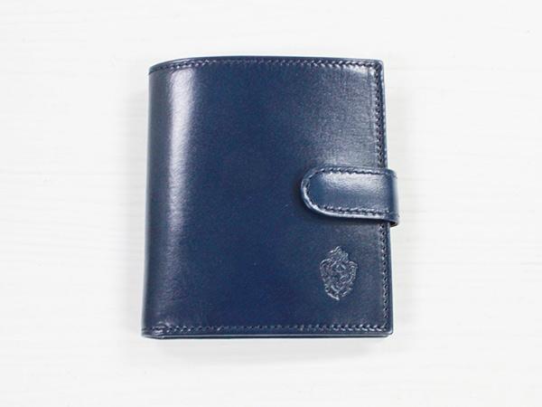 I MEDICI 322-Small size wallet ネイビー [イ・メディチ イタリアンレザー 2つ折り小財布]