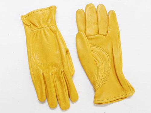 J. Churchill Glove Co. DEERSKIN With Patch Palm ゴールド [ジェームスチャーチル ディアスキン レザーグローブ 鹿革手袋]