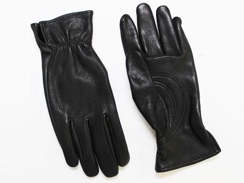 J. Churchill Glove Co. DEERSKIN With Patch Palm ブラック [ジェームスチャーチル ディアスキン レザーグローブ 鹿革手袋]