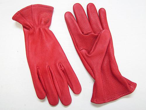 J. Churchill Glove Co. DEERSKIN LEATHER GLOVE レッド [ジェームスチャーチル ディアスキン レザーグローブ 鹿革手袋]