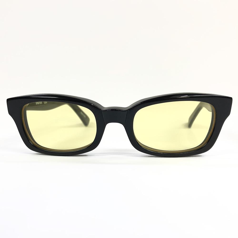 SHURON Made in U.S.A.Hi Light イエローレンズサングラス エボニー(ブラック)[シュロン バイカーシェイド サングラス]
