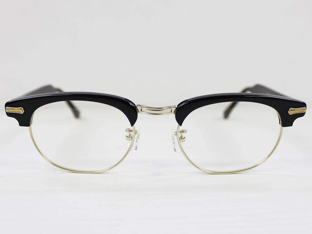 SHURON Made in U.S.A.RONSIR REVELATION エボニー/ゴールドメタル(ブラック×金) 【UV400クリアレンズ入り】 [シュロン ブロウ型ブロー型メガネ 眼鏡フレーム]
