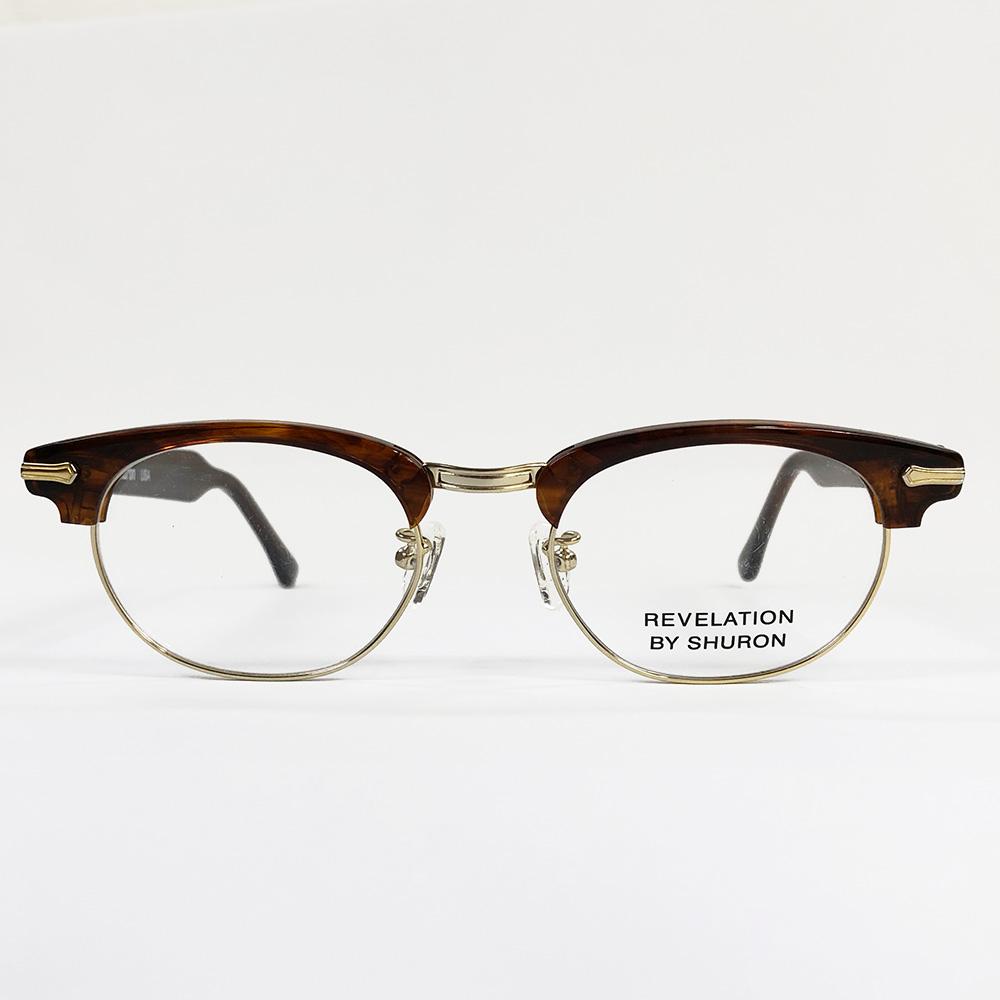 SHURON Made in U.S.A.RONSIR REVELATION べっ甲柄 【デモレンズ】 [シュロン ブロウ型ブロー型メガネ 眼鏡フレーム]