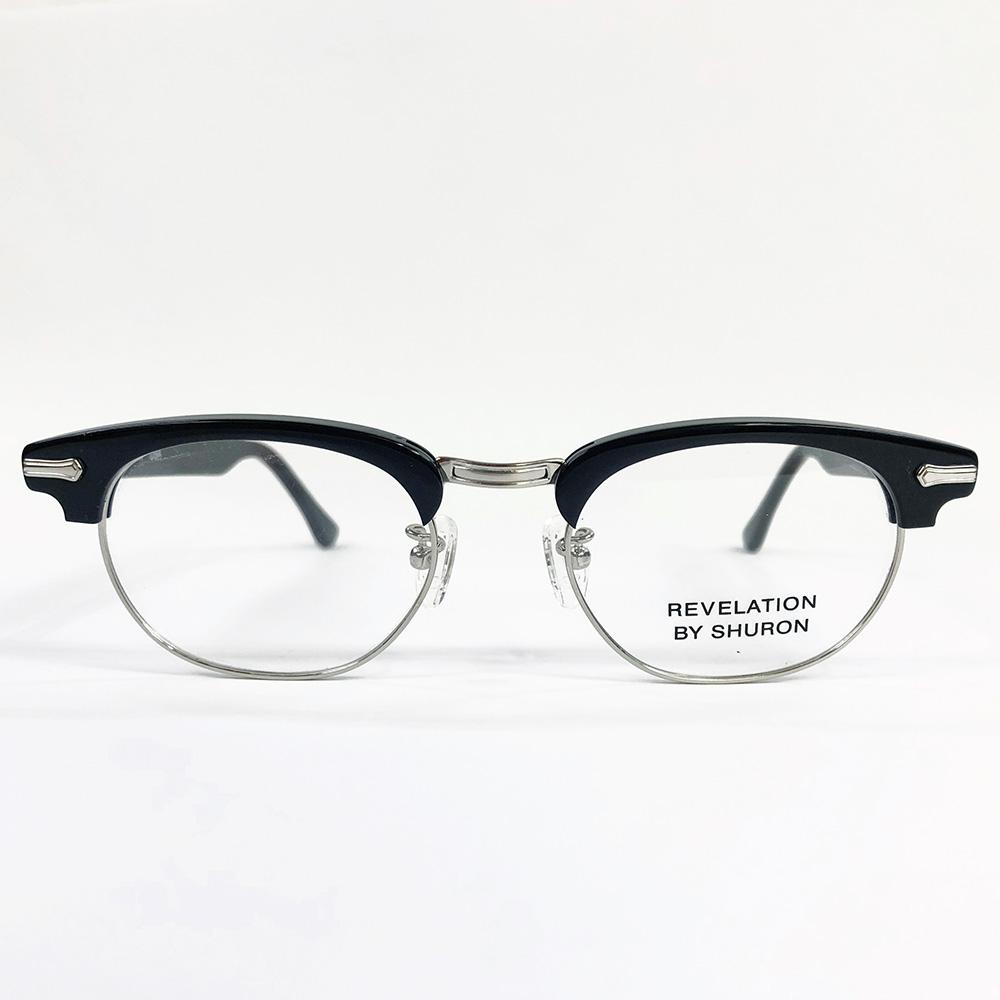 SHURON Made in U.S.A.RONSIR REVELATION エボニー(ブラック) 【デモレンズ】 [シュロン ブロウ型ブロー型メガネ 眼鏡フレーム]